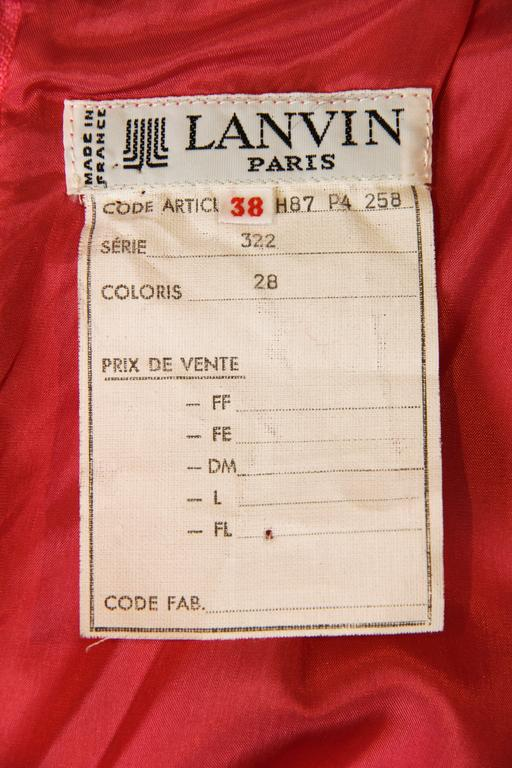 Fuchsia Silk Skirt from Lanvin For Sale 5