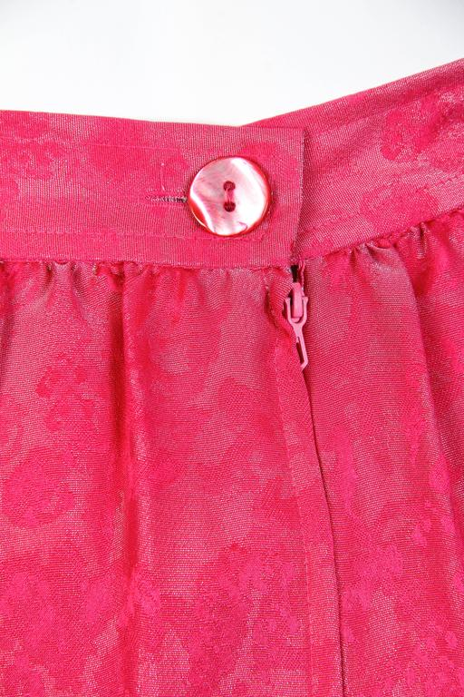 Fuchsia Silk Skirt from Lanvin For Sale 3