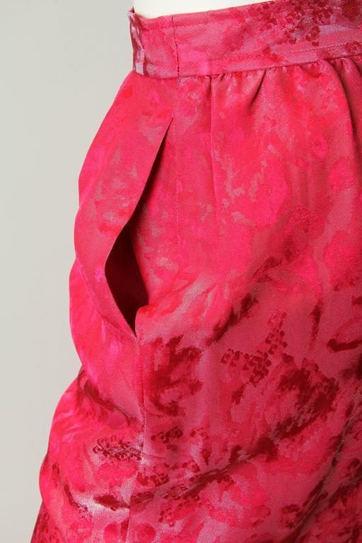 Fuchsia Silk Skirt from Lanvin 7