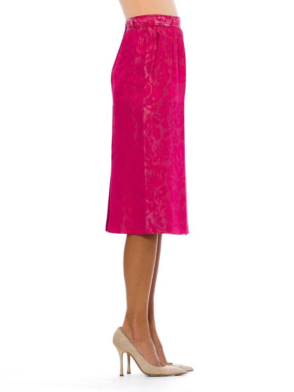 Women's Fuchsia Silk Skirt from Lanvin For Sale
