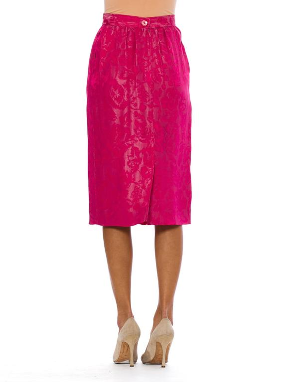 Fuchsia Silk Skirt from Lanvin In Excellent Condition For Sale In New York, NY