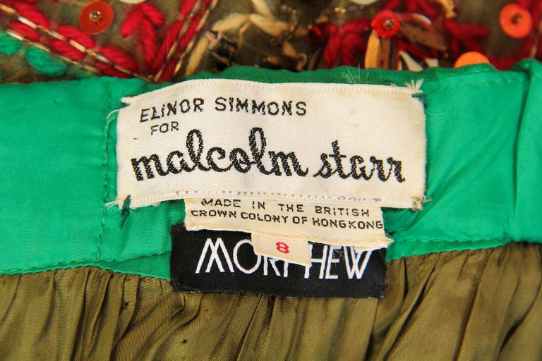 Malcolm Starr Fully Beaded and Embroidered Maxi-Skirt For Sale 5