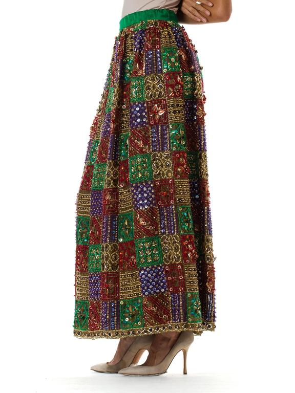 Malcolm Starr Fully Beaded and Embroidered Maxi-Skirt For Sale 1