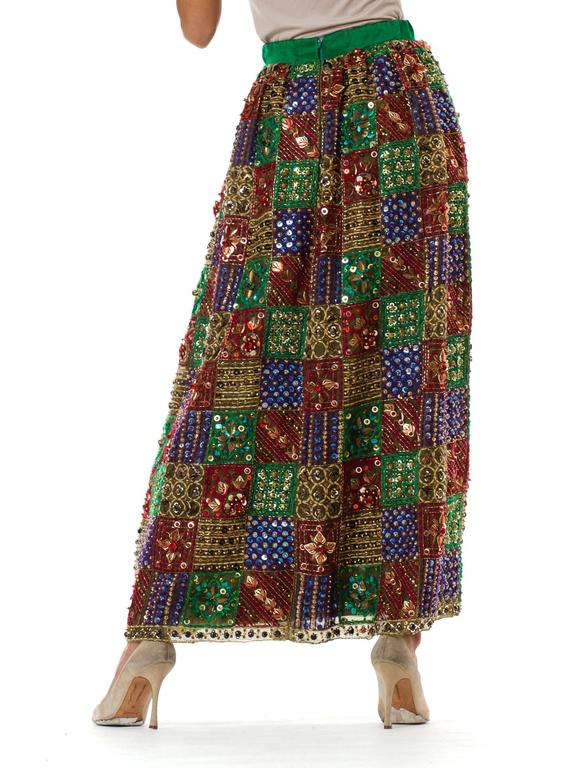 Women's Malcolm Starr Fully Beaded and Embroidered Maxi-Skirt For Sale