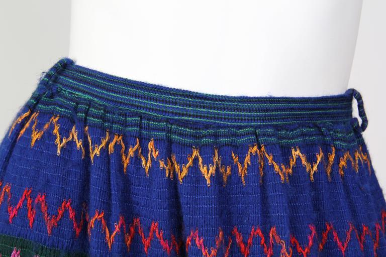 1970s Lanvin Boho Skirt 7