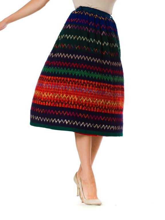 1970s Lanvin Boho Skirt 3