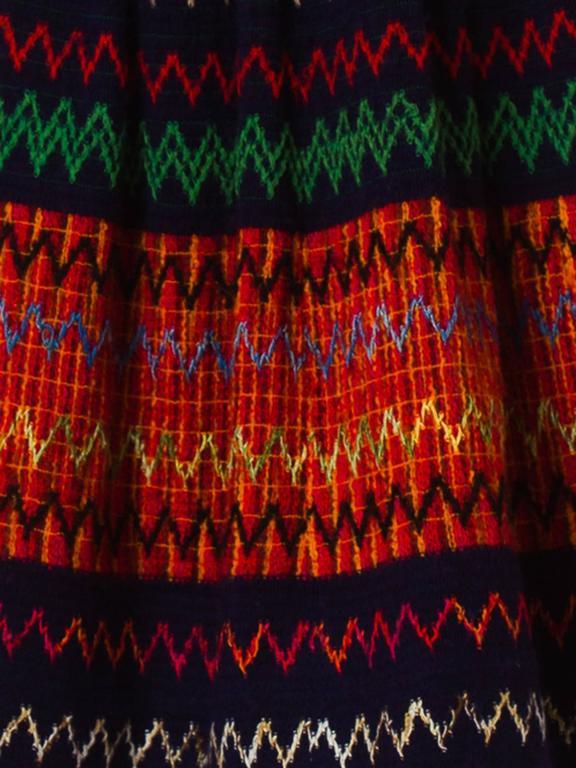 1970s Lanvin Boho Skirt 9
