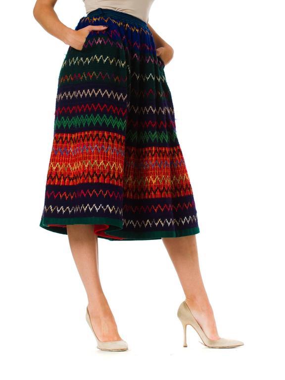 1970s Lanvin Boho Skirt 4