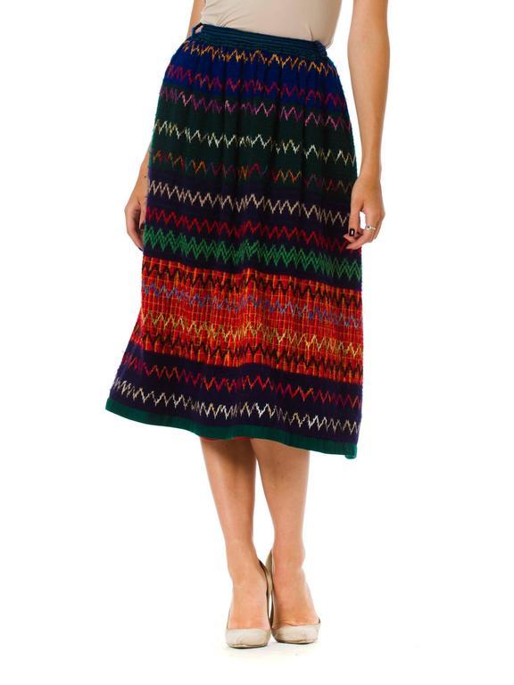 1970s Lanvin Boho Skirt 2