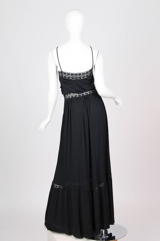 Early Vicky Tiel 1970s Lace and Silk Jersey Boho Dress 4
