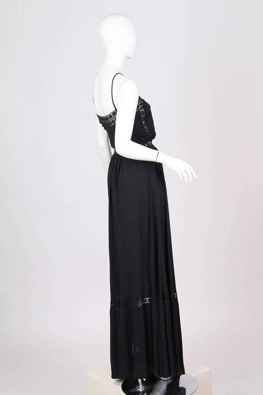 Early Vicky Tiel 1970s Lace and Silk Jersey Boho Dress 3