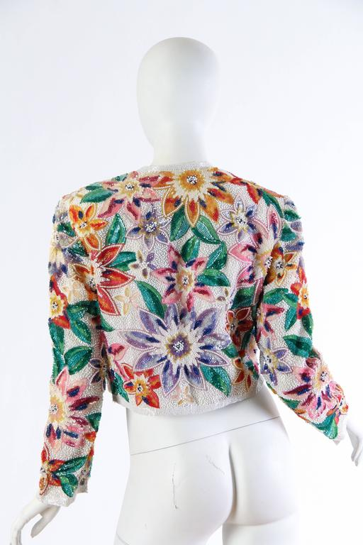 Women's Naeem Khan Tropical Beaded Bolero For Sale