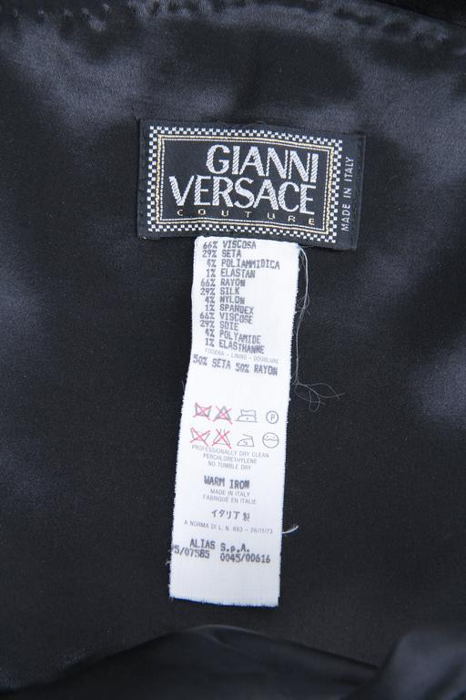 1990s Gianni Versace Couture Satin Gown  For Sale 6