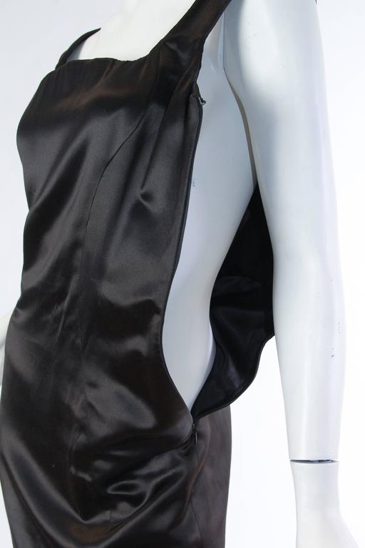 1990s Gianni Versace Couture Satin Gown  For Sale 5