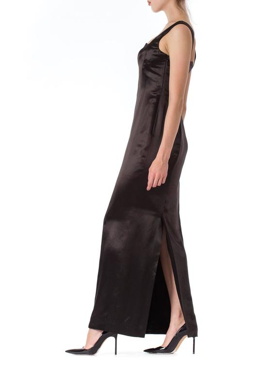 1990s Gianni Versace Couture Satin Gown  For Sale 2