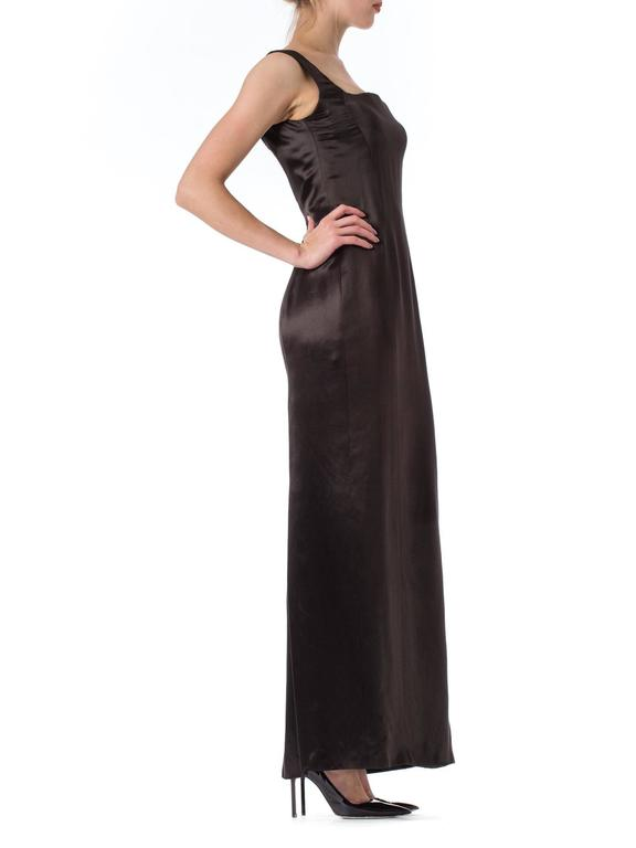Women's 1990s Gianni Versace Couture Satin Gown  For Sale