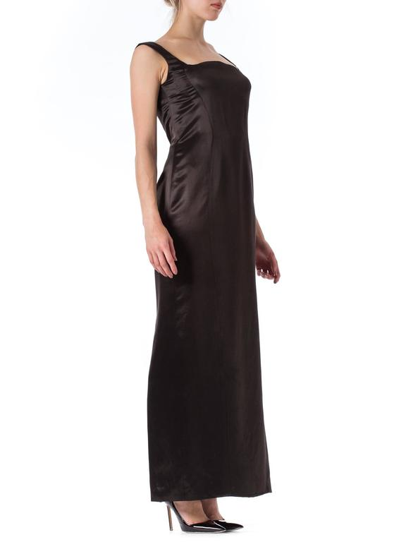 1990s Gianni Versace Couture Satin Gown  In Excellent Condition For Sale In New York, NY