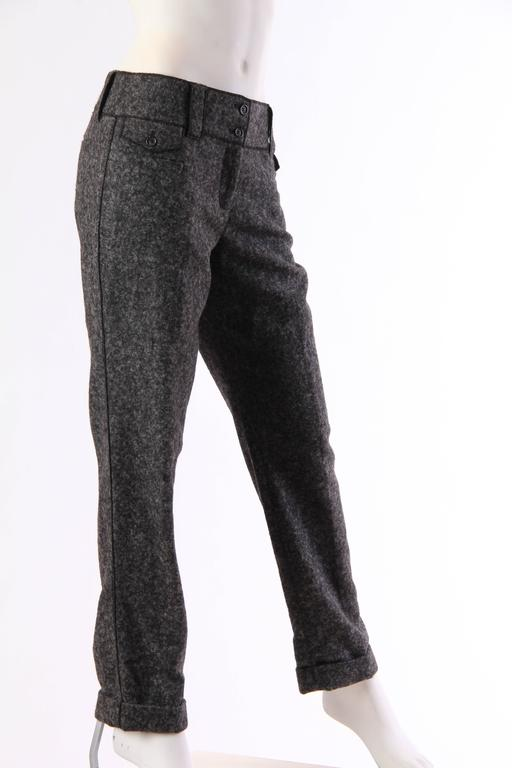 Dolce and Gabbana Cashmere Trousers In Excellent Condition For Sale In New York, NY