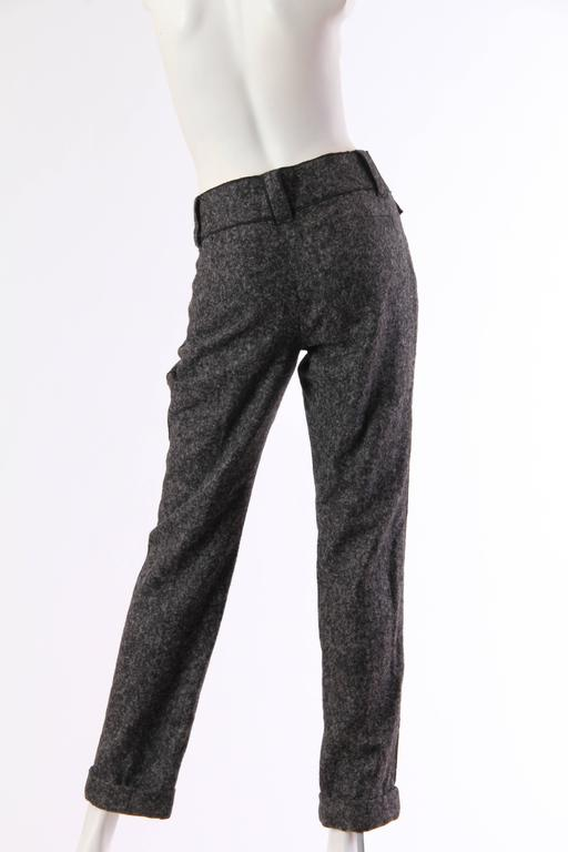 Black Dolce and Gabbana Cashmere Trousers For Sale