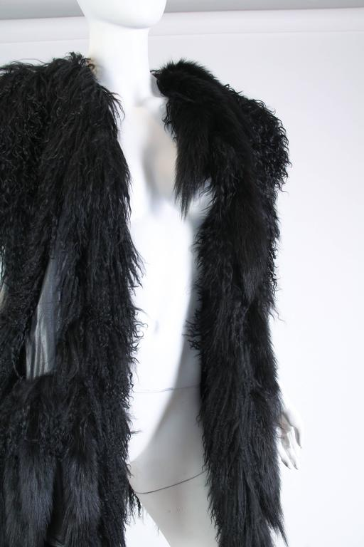 Avant Guard Lamb Fur and Leather Vest For Sale 1