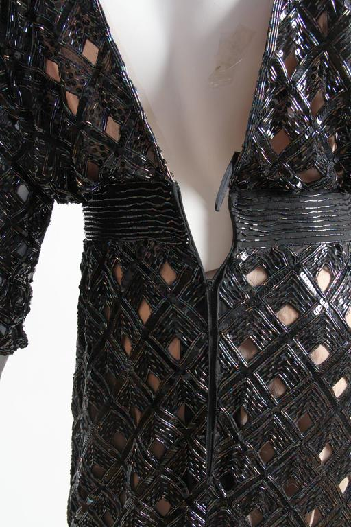 Bob Mackie Beaded Sequin Paillette Gown 8