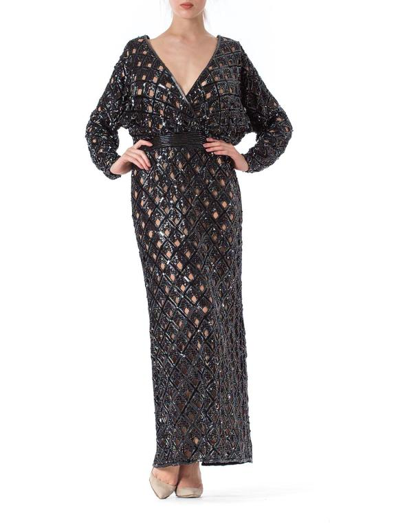 Bob Mackie Beaded Sequin Paillette Gown 2
