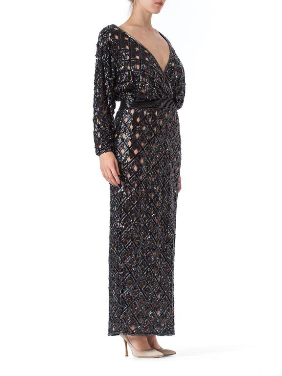Bob Mackie Beaded Sequin Paillette Gown 4