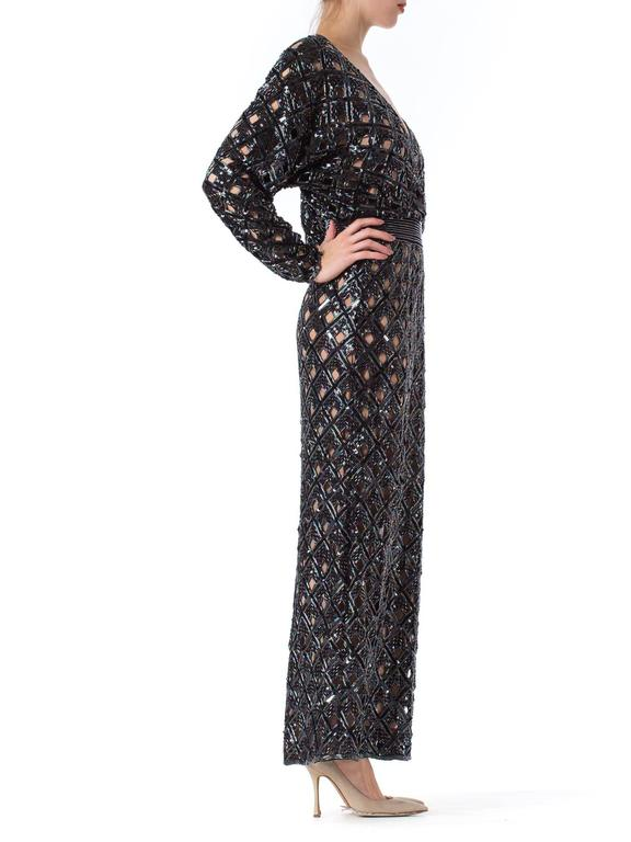 Bob Mackie Beaded Sequin Paillette Gown 5