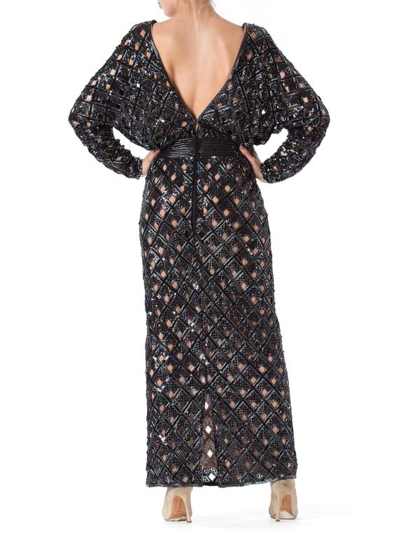 Bob Mackie Beaded Sequin Paillette Gown 6