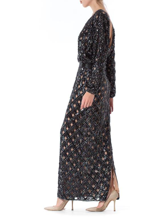 Bob Mackie Beaded Sequin Paillette Gown 7