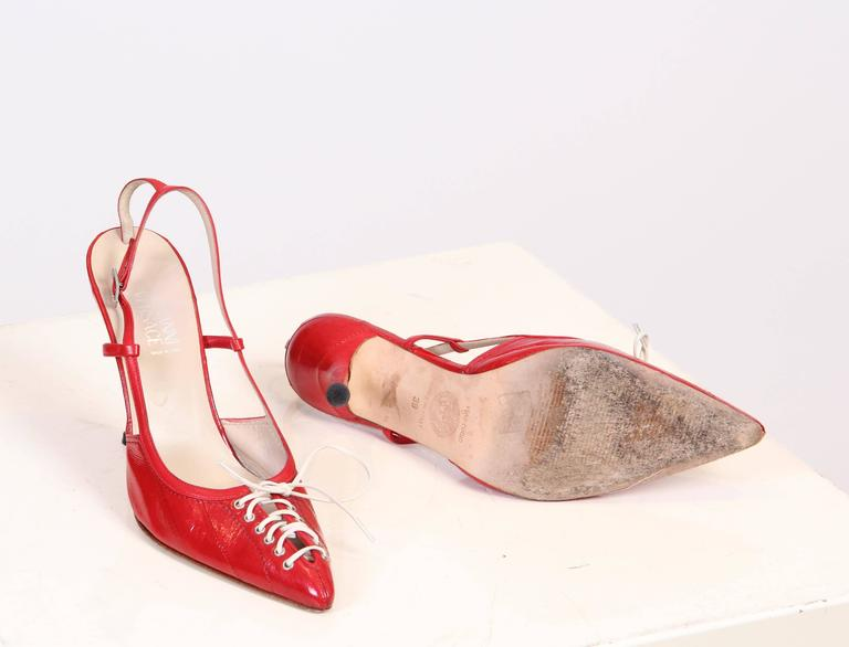 1990s Gianni Versace Eel Skin Pumps  In Excellent Condition For Sale In New York, NY