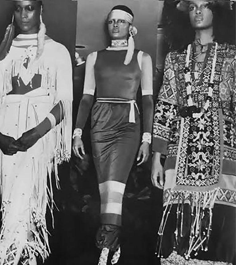 Giorgio Sant Angelo Native American Collection White Suede Fringe Ensemble 2