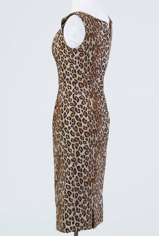 Alexander McQueen Leopard Silk Dress 2