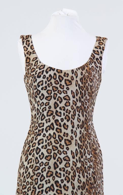 Alexander McQueen Leopard Silk Dress 5