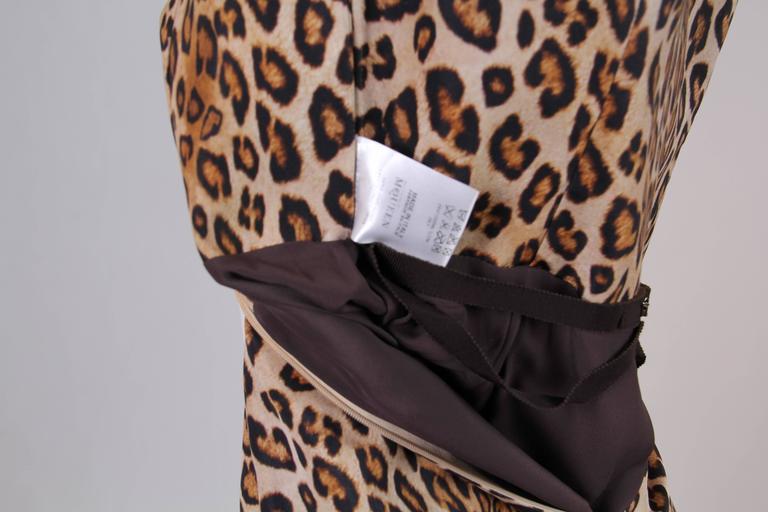 Alexander McQueen Leopard Silk Dress 6