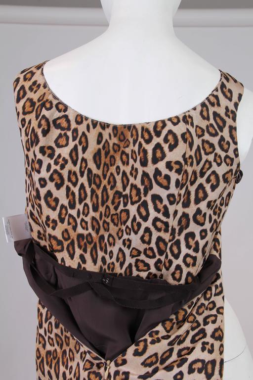 Alexander McQueen Leopard Silk Dress 7