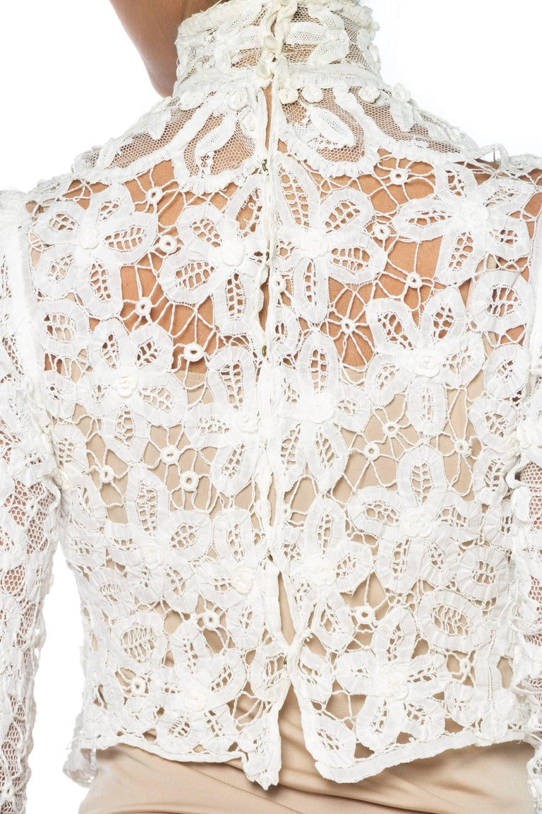 1890s Victorian Handmade Lace Blouse 7
