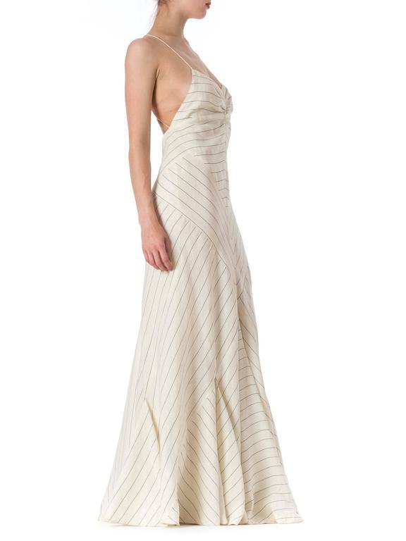 116438c54d9 ... Excellent Condition For Sale In. Women s Ralph Lauren Purple Label  1930s Style Bias Cut Linen Dress For Sale