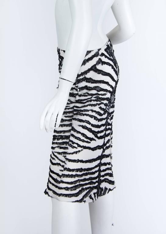 Women's 1990s John Galliano Bias cut Silk Zebra skirt For Sale