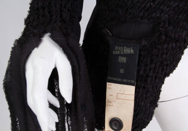 Jean Paul Gaultier Deconstructed and Knit Blazer For Sale 5