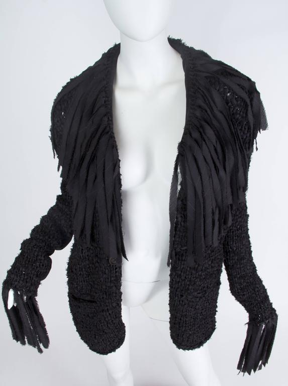 Jean Paul Gaultier Deconstructed and Knit Blazer For Sale 2