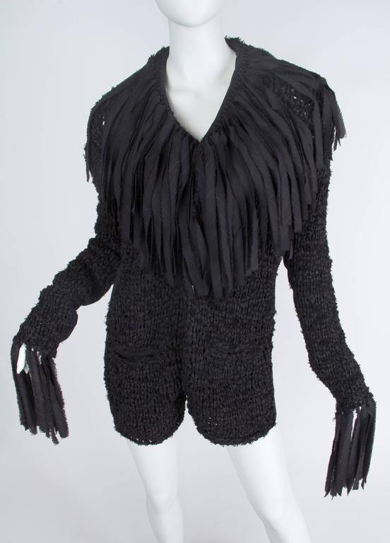 Jean Paul Gaultier Deconstructed and Knit Blazer For Sale 1