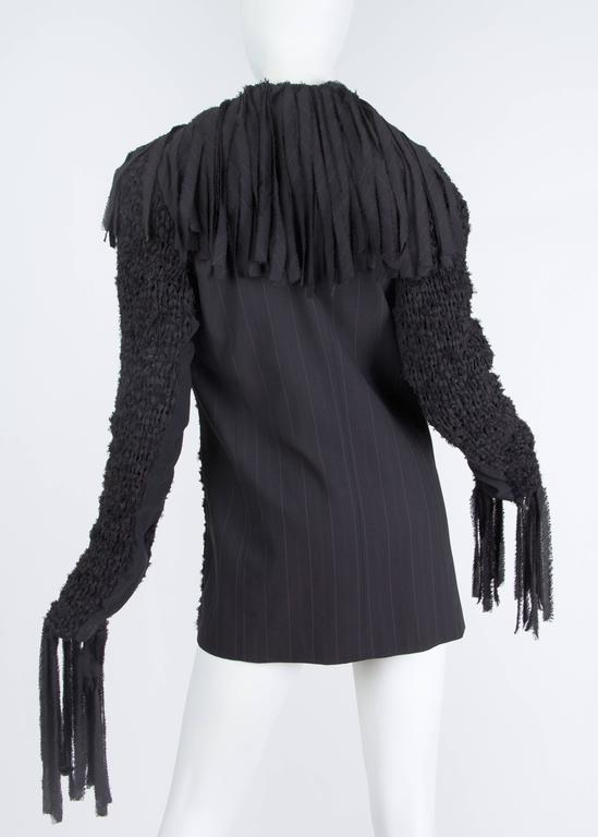 Jean Paul Gaultier Deconstructed and Knit Blazer In Excellent Condition For Sale In New York, NY
