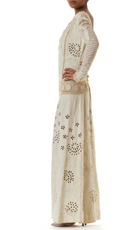 Beautifully Rebuilt Edwardian Hand Embroidered Lace Dress For Sale 1