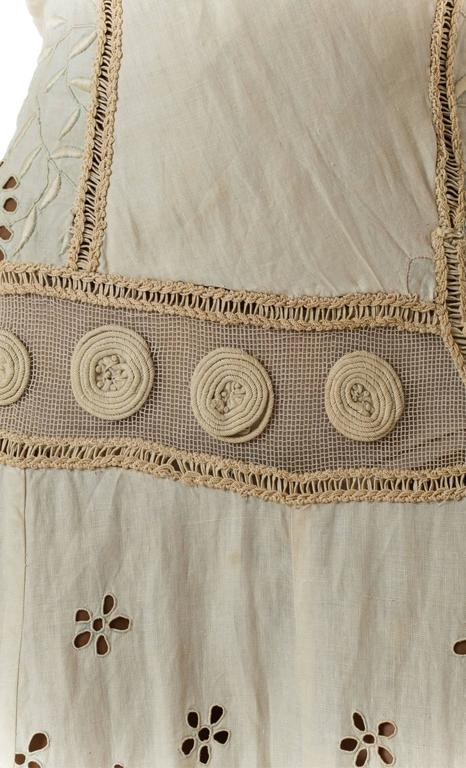 Beautifully Rebuilt Edwardian Hand Embroidered Lace Dress For Sale 3
