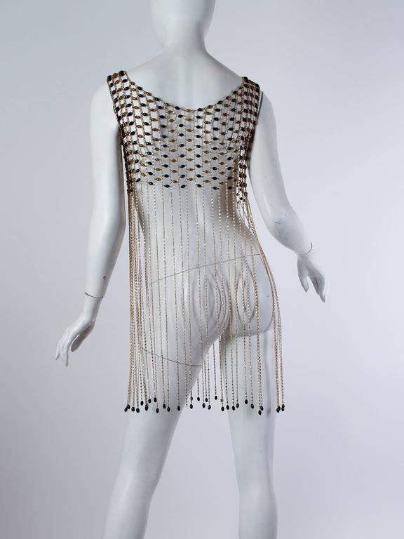 Rare 1960s Chain Link Fringed Vest 3