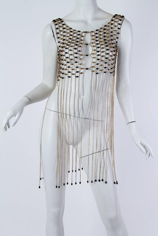 Rare 1960s Chain Link Fringed Vest 2