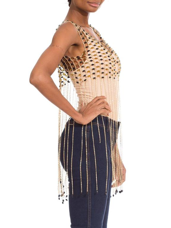 Rare 1960s Chain Link Fringed Vest 4