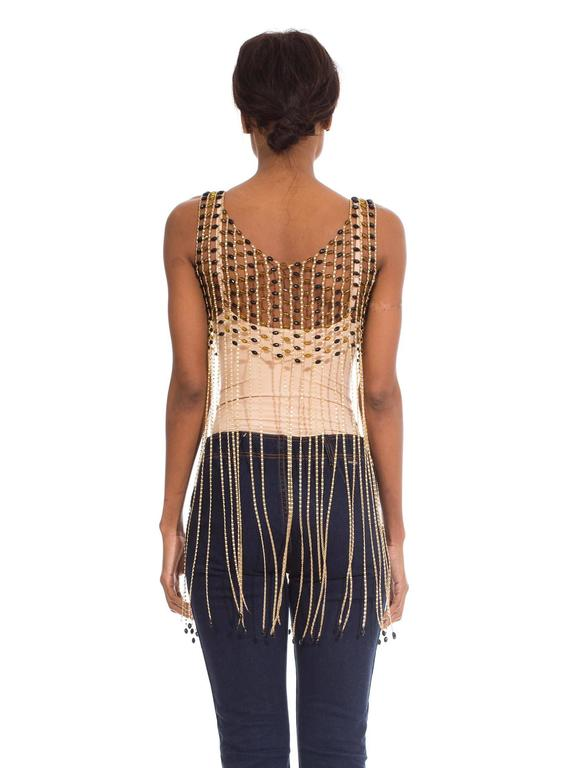 Rare 1960s Chain Link Fringed Vest 6