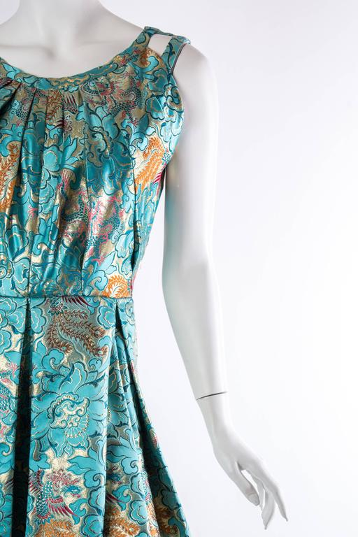 Reversible Gown Made from Chinese Silk For Sale 3